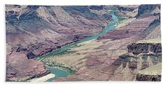 Colorado River In The Grand Canyon Hand Towel