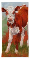 Colorful Calf Bath Towel by Margaret Stockdale
