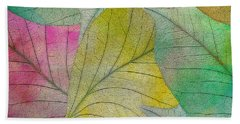 Hand Towel featuring the digital art Colorful Leaves by Klara Acel