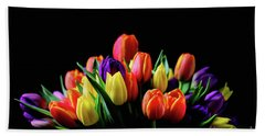 Colorful Tulips Hand Towel