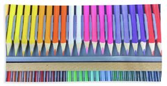 Colourful Wooden Pencils  Hand Towel