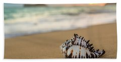 Bath Towel featuring the photograph Conch Shell At Sunrise by Leigh Anne Meeks