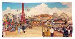 Coney Island Boardwalk Bath Towel