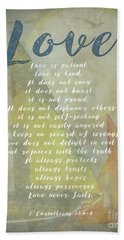 1 Corinthians 13 4-8 Love Is Patient Love Is Kind Wedding Verses. Great Gift For Men Or Home Decor. Hand Towel