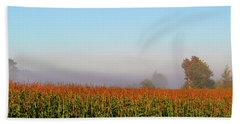 Cornfield Moonset Bath Towel