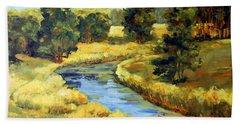 Countryside Bath Towel by Alexandra Maria Ethlyn Cheshire
