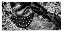 Cowboy Boot Wirth Spur And Shotgun Hand Towel