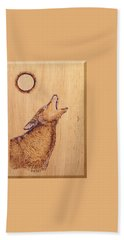 Coyote Hand Towel by Ron Haist