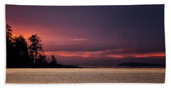 Hand Towel featuring the photograph Craig Bay Sunset by Randy Hall