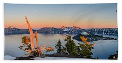 Crater Lake Panorama Bath Towel
