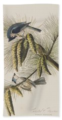 Crested Titmouse Hand Towel