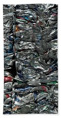 Crushed Cans Bath Towel