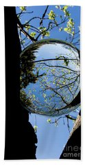 Crystal Reflection Hand Towel by Deborah Klubertanz