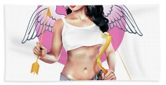 Bath Towel featuring the digital art Cupid by Brian Gibbs