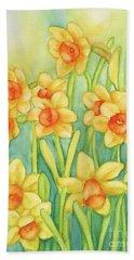 Daffodils In Yellow Bath Towel