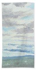 Dagrar Over Salenfjallen- Shifting Daylight Over Distant Horizon 9 Of 10_0029 Bath Towel