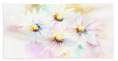 Daisy Hand Towel by Elizabeth Lock