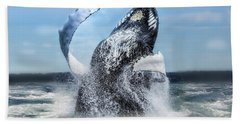 Dances With Whales Bath Towel