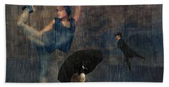 Dancing In The Rain Bath Towel