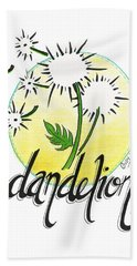 Bath Towel featuring the drawing Dandelion by Cindy Garber Iverson