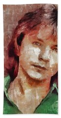 David Cassidy, Singer And Actor Hand Towel by Mary Bassett