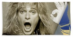 David Lee Roth Collection Hand Towel by Marvin Blaine