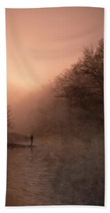 Dawn On The Lower Mountain Fork River Hand Towel
