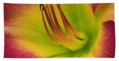 Bath Towel featuring the photograph Day Lily by Cathy Donohoue