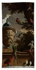 De Menagerie Bath Towel by Melchior d'Hondecoeter