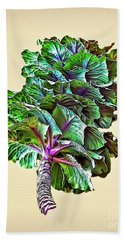 Bath Towel featuring the photograph Decorative Cabbage by Walt Foegelle