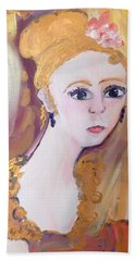 Deep In Thought  Bath Towel by Judith Desrosiers