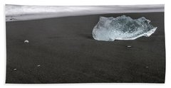 Diamonds Floating In Beaches, Iceland Hand Towel