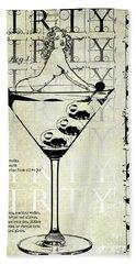 Dirty Dirty Martini Patent Hand Towel by Jon Neidert