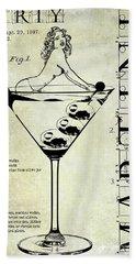 Dirty Martini Patent Hand Towel by Jon Neidert