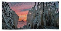 Distant Lighthouse Hand Towel