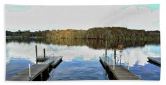 Dock Of The Bay Hand Towel by Michael Albright