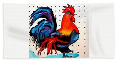 Doodle Do Rooster Bath Towel