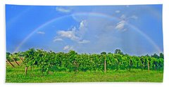 Double Rainbow Vineyard, Smith Mountain Lake Bath Towel