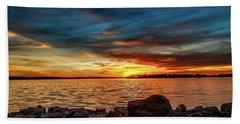 Dramatic Sunset Bath Towel by Doug Long