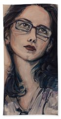 Hand Towel featuring the painting Dreaming With Open Eyes by Olimpia - Hinamatsuri Barbu