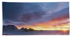 Dreamy Sunset Bath Towel by Maciej Markiewicz