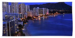 Dusk On Waikiki Hand Towel