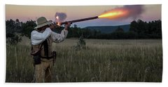Early 1800's Flintlock Muzzleloader Blast Bath Towel