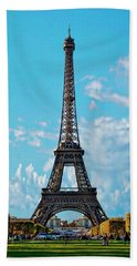 Eiffel Tower Hand Towel by Anthony Dezenzio