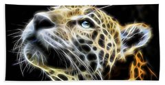 Electric Leopard Wall Art Collection Bath Towel