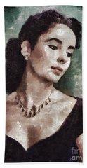 Elizabeth Taylor By Mary Bassett Hand Towel