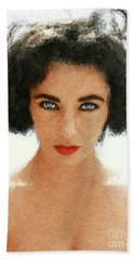 Elizabeth Taylor, Vintage Actress Hand Towel