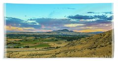 Bath Towel featuring the photograph Emmett Valley by Robert Bales