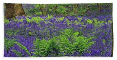 English Bluebell Woodland Hand Towel
