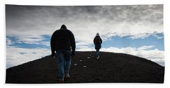 Bath Towel featuring the photograph Etna, Red Mount Crater by Bruno Spagnolo